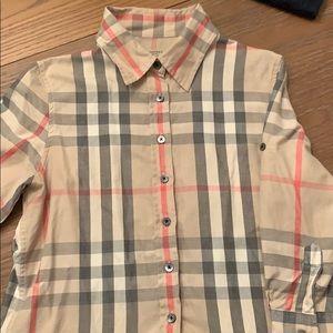 Women's Burberry 3/4 roll sleeve blouse